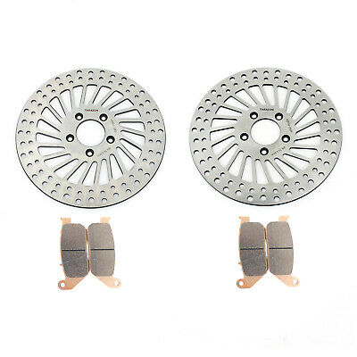 Front Brake Disc Rotors Pads For Sportster 883 XL R 05-10 883 1200 XL R Roadster