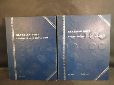 (69) 1937-1967 Silver Canadian Dimes in Whitman Albums