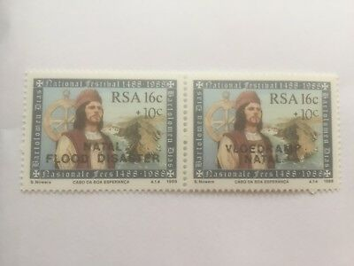 SOUTH AFRICA 1988 Natal Flood Relief Fund Surcharge stamps  - mint pair