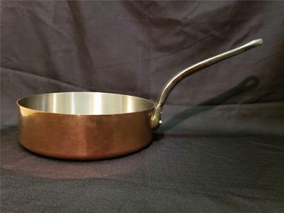 """MAUVIEL MADE IN FRANCE 11.25"""" COPPER SAUTE PAN POT 2.4mm-2.5mm FRENCH COOKWARE"""