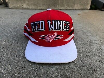 df38494aa900d DETROIT RED WINGS Wool Mitchell & Ness NHL Throwback Retro Snapback ...