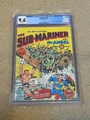 Flashback 19 CGC 9.6 White Pages (reprints Sub-Mariner Comics #1 from 1940!!)
