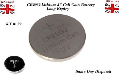 5x CR2032-BR2032-DL2032-Branded-3V-LITHIUM-Coin-Cell-Button-Batteries