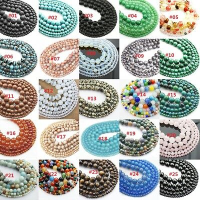 Wholesale Natural Gemstone Loose Beads for Jewelry Making 4mm 6mm 8mm 10mm 12mm