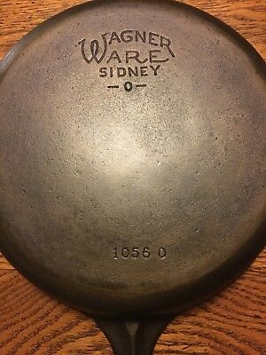 "Nice!!! Vintage Wagner Ware #6-1056O-9"" Cast Iron Skillet Cleaned and Seasoned"