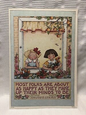 """Mary Engelbreit-Abraham Lincoln's """"Most Folks Are About As Happy..."""" Art Print"""