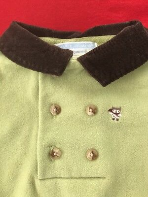 Janie and Jack Baby Boy Cozy Owl Longall 0-3 Months