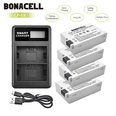 Powtree LP-E8 Battery Pack+Charger For Canon Rebel T3i T4i Kiss X5 EOS 550D E