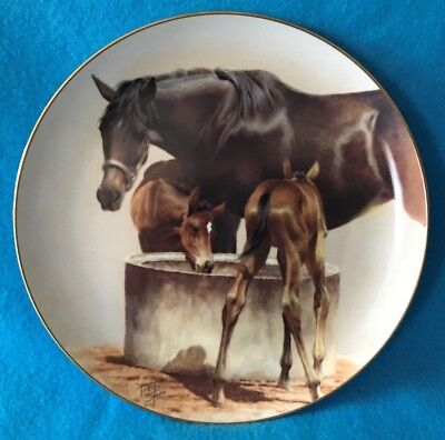 The Water Trough Collectible Plate by Fred Stone