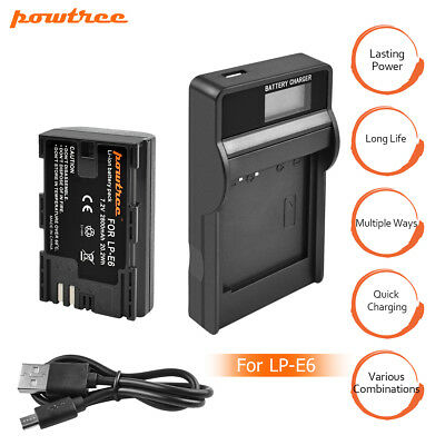 2800mAh LP-E6 Digital Camera Battery For Canon EOS 5D Mark II 2 III 3 6D 7D EG
