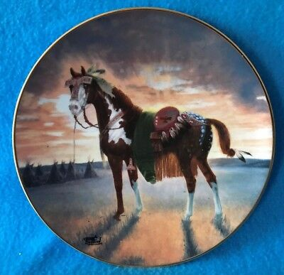 Crow War Pony Collectible Plate The Warrior's Pride Collection