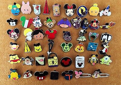 Disney Pin Trading 100 Assorted Pin Lot - Brand New Pins No Doubles Tradable