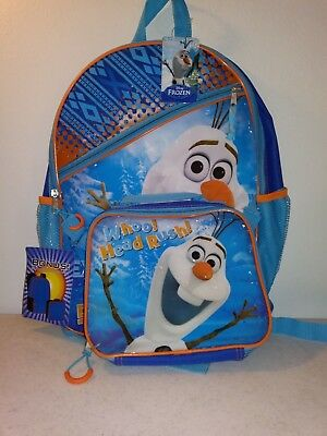 Disney Olaf Backpack With Bonus Lunch Box/bag New With Tags