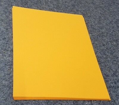 "25 Sheets of 8.5 X 11"" 67lb. Vellum Goldenrod Craft or Copy Card Stock"