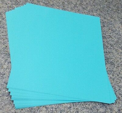"25 Sheets of 8.5 X 11"" 65lb. Blue Brights Craft or Copy Card Stock"