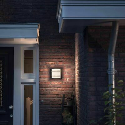 Philips myGarden LED Wall Light Petronia 1x12W Anthracite Patio Lamp 1739493P0