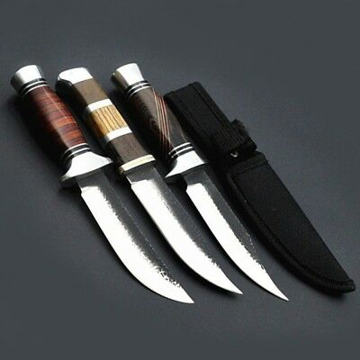 Class Outdoor Fixed Blade Knife Wooden Handle Wildlife Hunting Dive Navy Knives