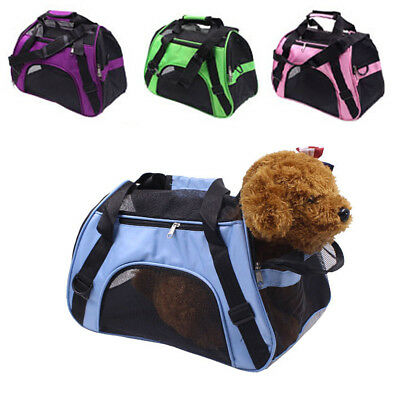 Pet Carrier Soft Sided Cat/Dog Comfort Travel Bag Oxford Airline Approved New