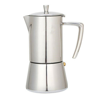 Stainless Steel Coffee Moka Maker Pot Expresso Latte Percolator 4 Cup,200ml