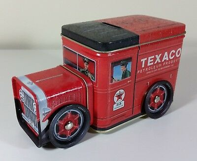 TEXACO Tin Toy Oil Delivery Truck Piggy Bank, NEW-MINT by R&B Collectibles