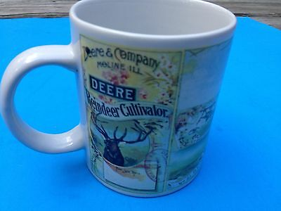 John Deere Tractor Coffee Cup Mug Large Gibson China Green Yellow Vgc!