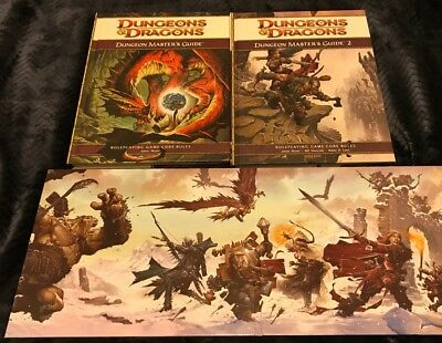 4e d d dungeons dragons dungeon master s guide 1 2 with dm screen