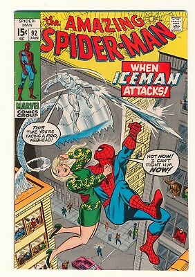 Amazing Spider-Man #92 VF- OW pages Marvel Silver Age