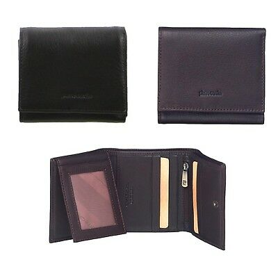 NEW PIERRE CARDIN MENS TRI-FOLD RFID PROTECTED WALLET  Italian Leather 2 COLOURS