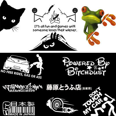 JDM Funny Car Sticker Decals Auto Cars SUV Window Door Wall Vinyl Stickers Cool