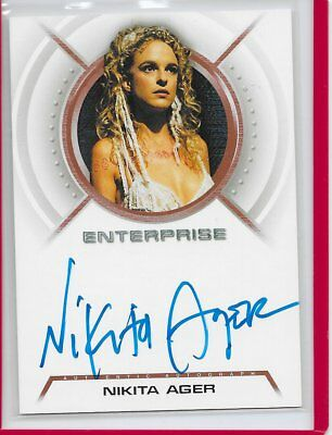 STAR TREK ENTERPRISE Season 3 NIKITA AGER as Rajiin Autograph Card A29 auto