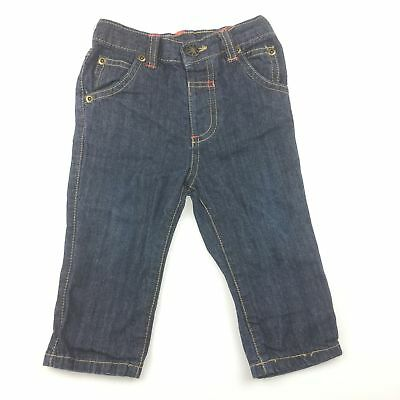 Girls / Boys size 0, M&Co, 100% cotton dark denim jeans / pants, GUC