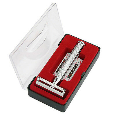 Men's Classic Traditional Double Edge Chrome Shaving Safety Razor