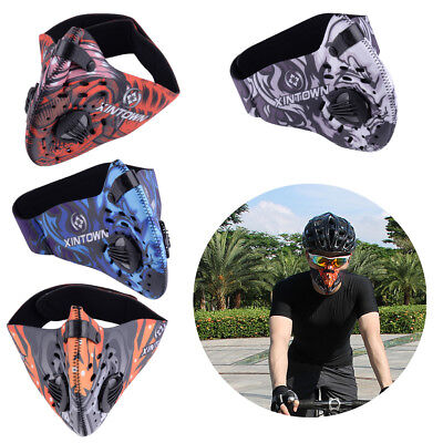 Unisex Activated Carbon Filter Half Face Mask Dust Anti-pollution Leisure