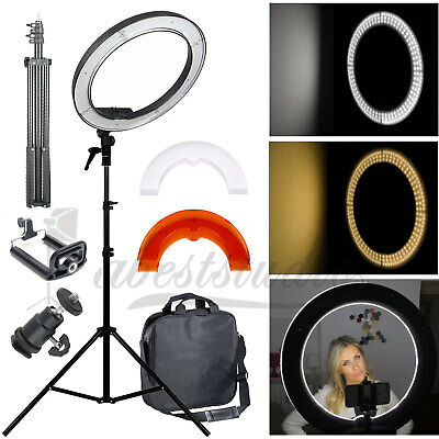 "35W 14"" Studio Photo Video Ring Light Dimmable Lamp Kit for Makeup Camera Phone"