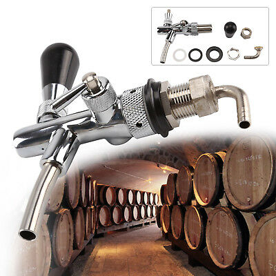 Beer Tap Intertap Flow Control Stainless Steel Faucet Shank G5/8 Tap Kit Silver