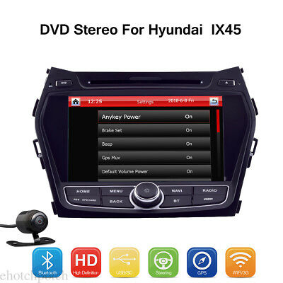 For Hyundai IX45 Android 7.1 Car DVD Stereo Player GPS BT Touch Video Radio Unit