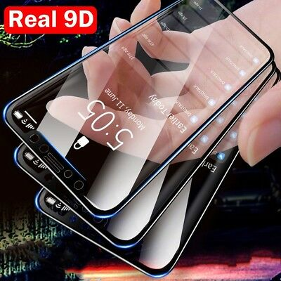 9D Curved Edge Tempered Glass Full Screen Protector Film For iPhone X 6 7 8 +