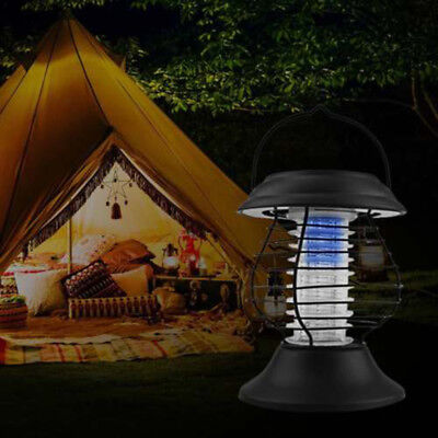 Solar Powered Zapper Lamp Light Electric Mosquito Bug Trap Killer 1pc Fashion