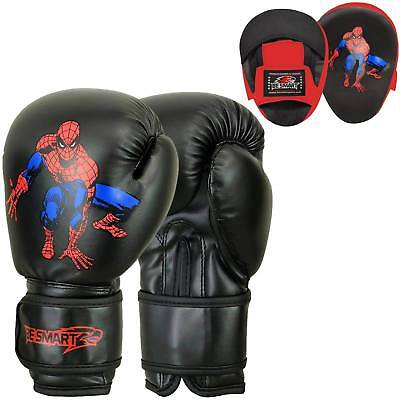 Kids Boxing Focus Pads Hook and Jab Pro Fight Training Punch Gloves MMA