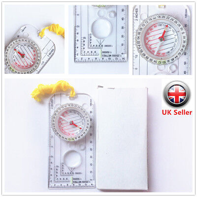 UK MILITARY MAP COMPASS MILS RULER SCALE ORIENTEERING BRITISH ARMY SURVIVAL cckk