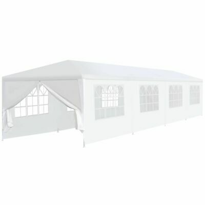 vidaXL Garden Marquee 3x12m White Outdoor Patio Pavilion Party Tent Canopy