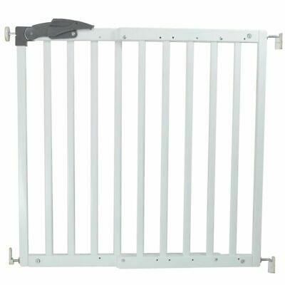 A3 Baby & Kids Safety Gate Oslo 71-102cm Wood White Pet Barrier Fence 64634
