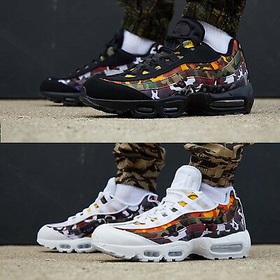 huge selection of a93f4 ab528 Nike Air Max 95 ERDL Party Multi-Color Camo Print White   Black Shoes Pick