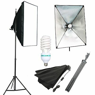 Photography Studio 135W Softbox Lighting Stand Kit Photo Video Light Stand Set