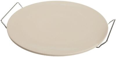 New Pampered Pizza Stone Round Baking Rack 15 Inches Chef Oven Natural Large