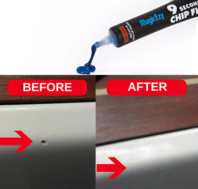 MagicEzy 9 Second Chip Fix: (Snow White) Fill & Color Gelcoat Damage Fast