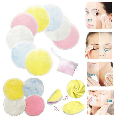 Makeup Cleansing Face Towel Remover Cloth Microfiber Reusable Round Pads New Hot