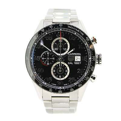 d7b119605a0 Gents Pre Owned Watch Tag Heuer Carrera Ref CAR2A10-2 Box Papers 2016