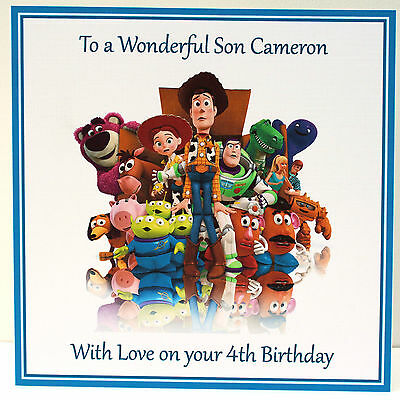 Toy Story Personalised Birthday Card Son Brother Nephew Grandson