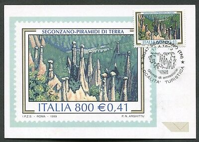 Italia - Fdc - Cartolina Maximum Card 1999 - Segonzano - Piramidi Di Terra - 573